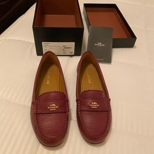 Coach burgundy leather loafers